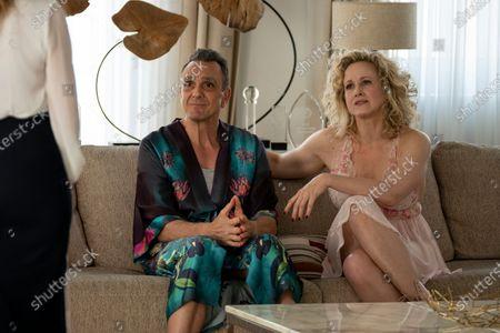Hank Azaria as Jim Brockmire and Katie Finneran as Lucy Brockmire