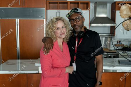 """Katie Finneran as Lucy Brockmire and Maurice """"Mo"""" Marable Director"""
