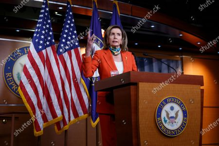 House Speaker Nancy Pelosi of Calif., speaks at a news conference on Capitol Hill in Washington