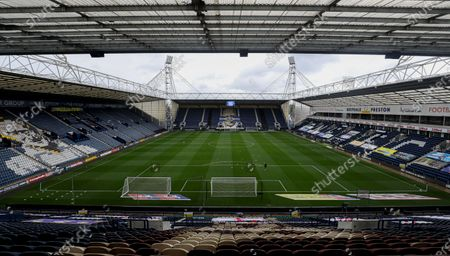 A general view of Deepdale before the start of the match