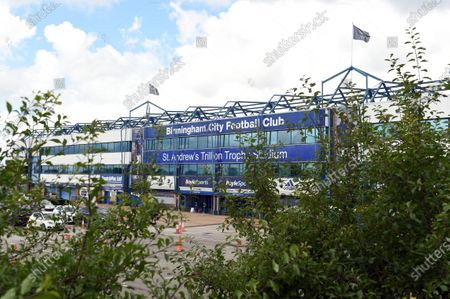 General view outside the St Andrews Trillion stadium prior to kick off.