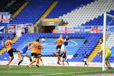 Dan Crowley of Birmingham City scores a goal to make it 2-2.