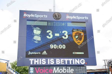 The score board on 90 minutes.