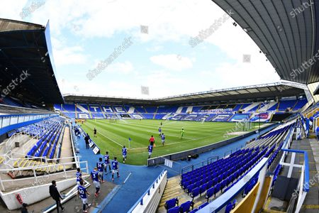 Birmingham City enter the field of play.