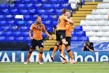 James Scott of Hull City celebrates his goal.