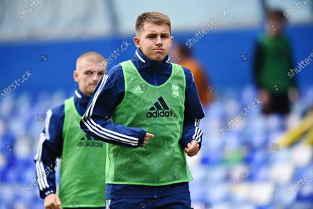 Caolan Boyd-Munce of Birmingham City warms up.