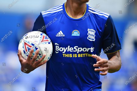 Thank You NHS logo on the shirt of Jude Bellingham of Birmingham City.