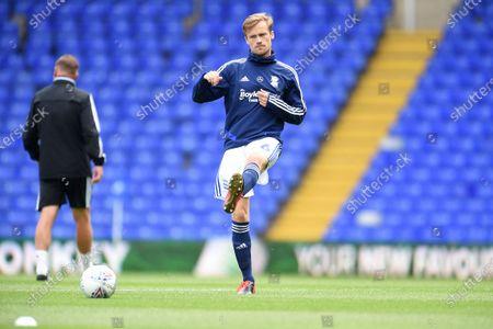 Maikel Kieftenbeld of Birmingham City warms up.