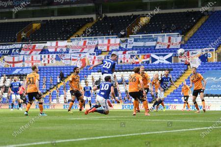 Stock Photo of Gary Gardner of Birmingham City scores the equalising goal.