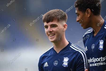 Stock Picture of Ryan Burke of Birmingham City and Jude Bellingham of Birmingham City leave the field after warm up.
