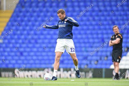 Harlee Dean of Birmingham City warms up.