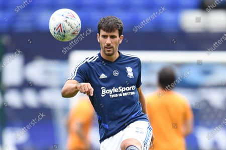 Maxime Colin of Birmingham City warms up.