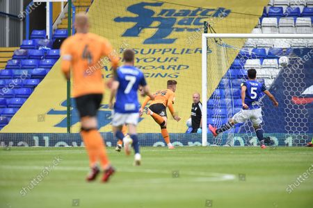 James Scott of Hull City scores a goal to make it 0-2.