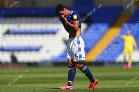 Maxime Colin of Birmingham City dejected