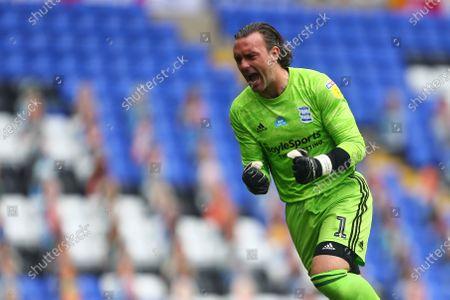 Lee Camp of Birmingham City celebrates his sides second goal