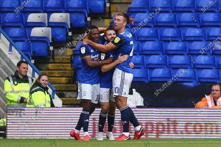 Dan Crowley of Birmingham City celebrates scoring his sides second goal