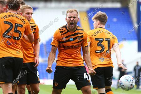 Hull's Herbie Kane celebrates scoring his sides third goal
