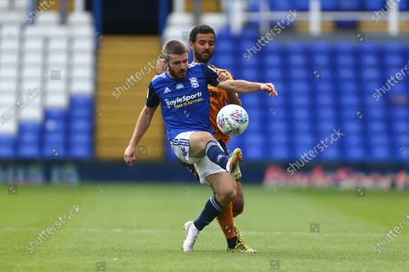 Dan Crowley of Birmingham City and Hull's Kevin Stewart