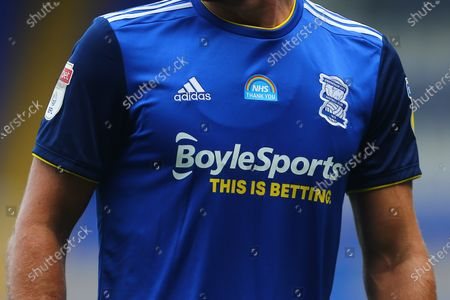 The Birmingham shirt with the Thank You NHS badge on the chest