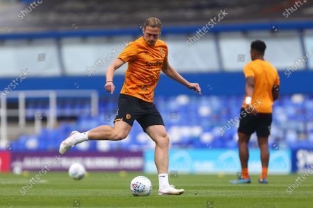 Hull's Tom Eaves warms up