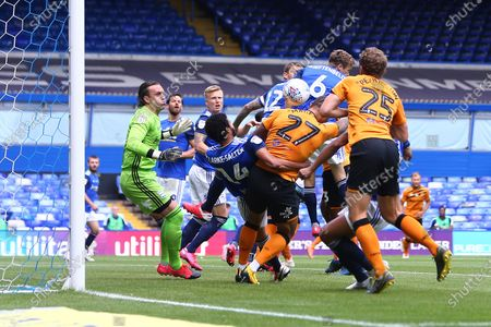 Hull's Josh Magennis scores his sides opening goal