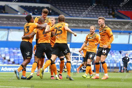 Hull's Josh Magennis celebrates scoring his sides opening goal