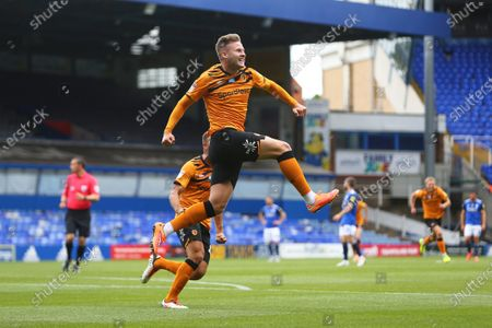 Hull's James Scott celebrates scoring his sides second goal