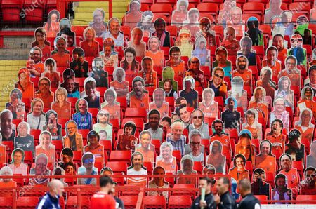 Cutouts of Charlton fns in the stand