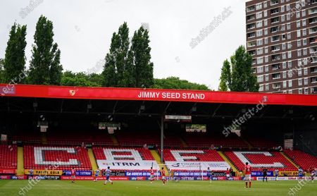 The Jimmy Sees Stand which would have housed the away support