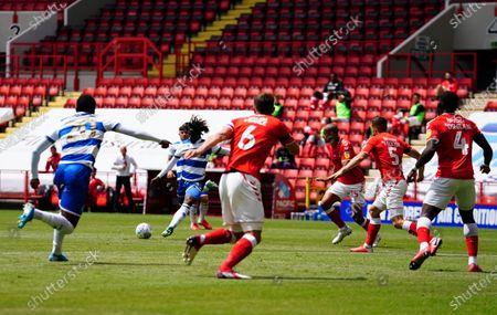 Eberechi Eze of QPR has a shot on goal