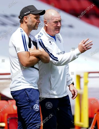 Mark Warburton - Manager of QPR with Assistant John Eustace