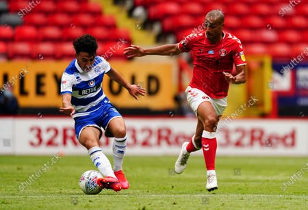 Stock Picture of Ilias Chair of QPR battles with Darren Pratley of Charlton Athletic