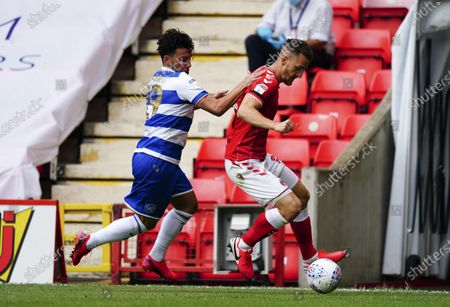 Ilias Chair of QPR battles with Tom Lockyer of Charlton Athletic