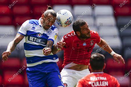 Geoff Cameron of QPR battles with Tomer Hamed of Charlton Athletic