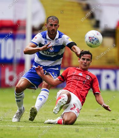 Dominic Ball of QPR battles with Josh Cullen of Charlton Athletic