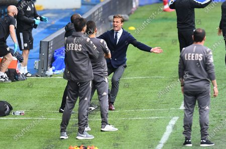 Fulham Manager Scott Parker reacts on the touchline