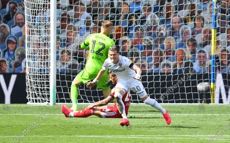 Ezgjan Alioski of Leeds United celebrates scoring his side's second goal