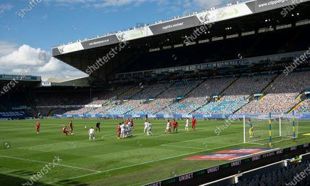 Anthony Knockaert of Fulham takes a free kick