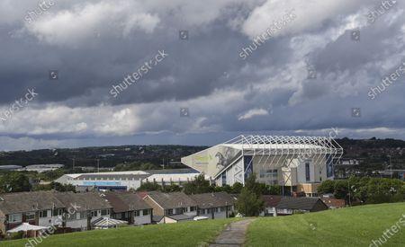 A general view of a quiet Elland Road before kick off