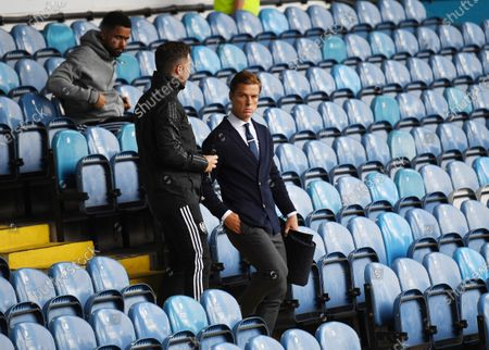 Fulham Manager Scott Parker enters the pitch via the stands