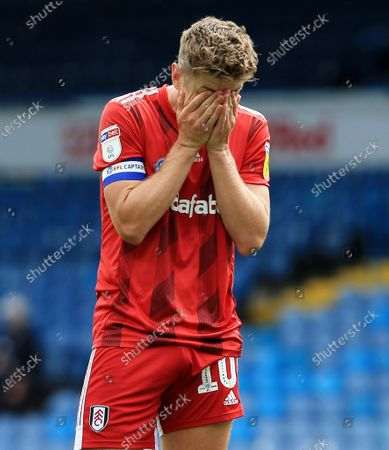 Tom Cairney of Fulham rues a missed chance