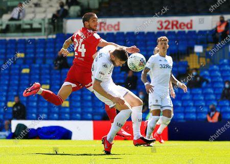 Anthony Knockaert of Fulham and Stuart Dallas of Leeds United
