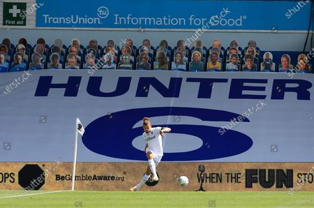 Kalvin Phillips of Leeds United takes a corner kick