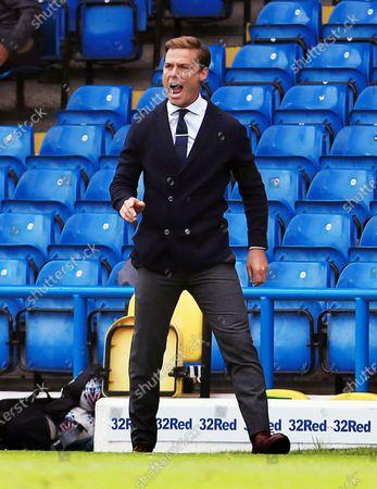 Fulham manager Scott Parker shouts