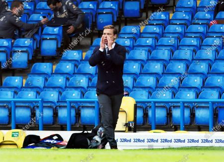 Fulham manager Scott Parker issues instructions