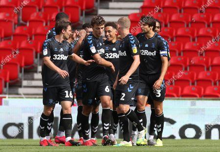 Middlesbrough's Marcus Tavernier celebrates the second goal