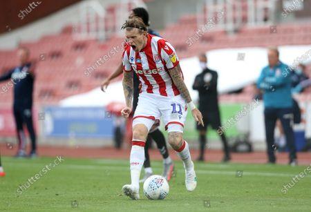Stoke City's James McClean shows frustration