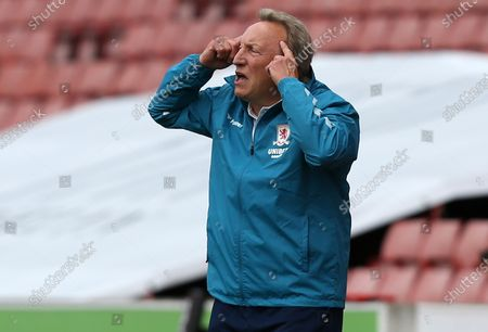 Stock Picture of Middlesbrough Manager, Neil Warnock calls for calm