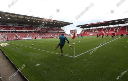 Middlesbrough warm up