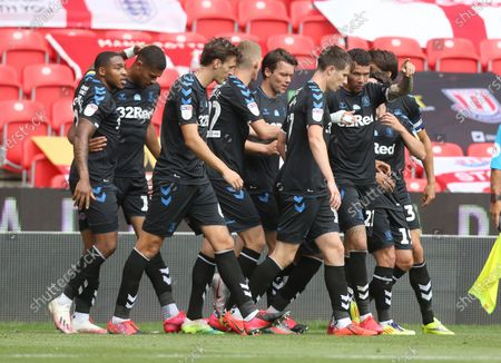 Middlesbrough's Ashley Fletcher celebrates there first  goal